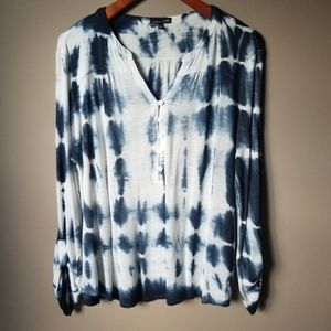 rxb | Blue and White Tie Dye Top